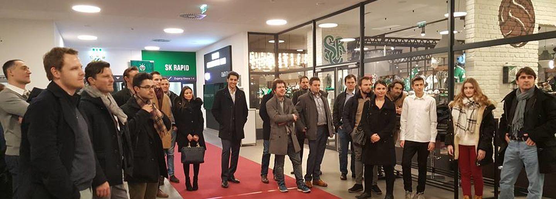 ÖGV Neuigkeiten: Ein Besuch des Forums Jungunternehmer im ÖGV bei SK Rapid Wien