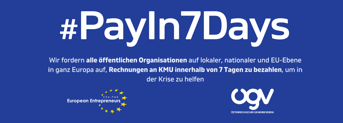 ÖGV Pressemeldung: In der Krise schneller zahlen! Österreich: #PayIn7Days !