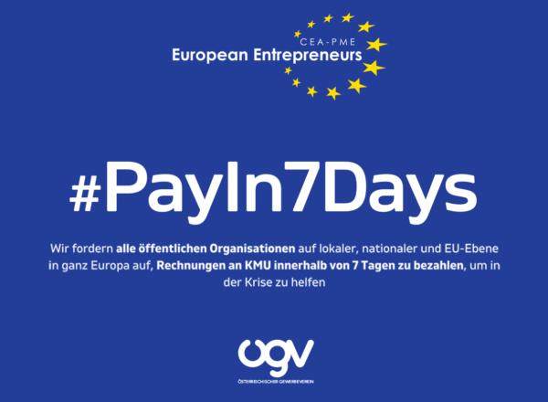 In der Krise schneller zahlen! Österreich: #PayIn7Days !